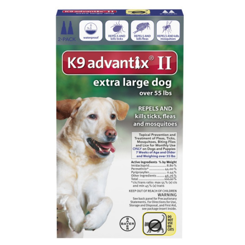 K9 Advantix Ii Extra Large Dogs Over 55 Lbs 2 Month Supply