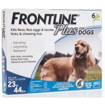 Frontline Plus for Medium Dogs (23 - 44 lbs, 6 Months Supply)