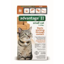 Advantage II for Small Cats (5 - 9 lbs, 2 Month Supply)