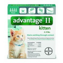 Advantage II for Kittens (2 - 5 lbs, 4 Month Supply)