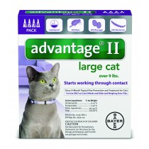 Advantage II for large Cats (Over 9 lbs, 4 Month Supply)