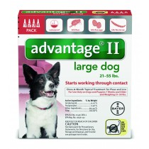 Advantage II for Large Dogs (21 - 55 lbs, 4 Month Supply) Front