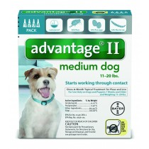 Advantage II for Medium Dogs (11 - 20 lbs, 4 Month Supply) Front
