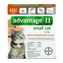 Advantage II for Small Cats 4 Month Supply