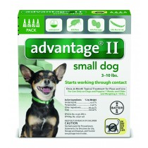 Advantage II for Small Dogs (3 - 10 lbs, 4 Month Supply) Front