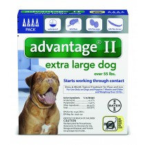 Advantage II for Extra Large Dogs (Over 55 lbs, 4 Month Supply) Front