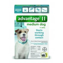 Advantage II for Medium Dogs (11 - 20 lbs, 6 Month Supply) Front