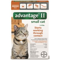 Advantage II for Small Cats 6 Month Supply