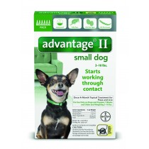 Advantage II for Small Dogs (3 - 10 lbs, 6 Month Supply) Front