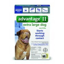 Advantage II for Extra Large Dogs (Over 55 lbs, 6 Month Supply) Front