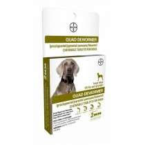 Bayer Quad Dewormer for Large Dogs 45 lbs and Above, 2 Count