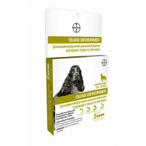 Bayer Quad Dewormer for Medium Dogs (26 to 60lbs) 2 Count