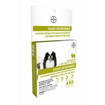 Bayer Quad Dewormer for Medium Dogs (2 to 25 lbs) 4 Count