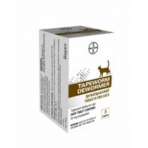 Tapeworm Dewormer Tablets for Cats 3 Count (Praziquantel, 23mg)