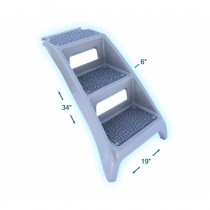 "PSUSA Booster Bath Step Grey 19"" x 6"" x 34"" - BB-STEP"