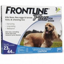 Frontline Plus for Medium Dogs (23 - 44 lbs, 3 Months Supply)