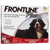 Frontline Plus for Extra Large Dogs (89 - 132 lbs, 3 Months Supply)