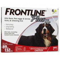 Frontline Plus for Extra Large Dogs (89 - 132 lbs, 6 Months Supply)