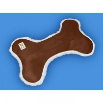 "Hugs Pet Products Dog Tee Bone Pillow Brown 9"" x 15"" x 1"" - HUG-01606"