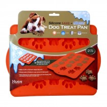"Hugs Pet Products Silicone Baking Tray - Paw Print Orange 12"" x 10"" - HUG-10415"