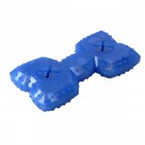 "Hugs Pet Products Arctic Freeze Bone Dog Toy Blue 5.75"" x 3.25"" x 1.25"" - HUG-21213"