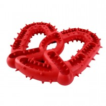 "Hugs Pet Products Jaws Pretzel Red 6"" x 5"" x 1 - HUG-70731-NT"