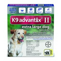 K9 Advantix II Extra Large Dogs (Over 55 lbs, 4 Month Supply)