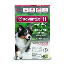 K9 Advantix II for Large Dogs (21 - 55 lbs, 6 Month Supply)