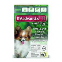 K9 Advantix II for Small Dogs (Under 10 lbs, 6 Month Supply)