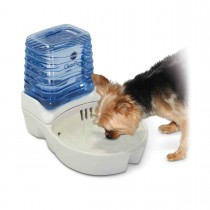 """K&H Pet Products CleanFlow Dog Ceramic Fountain with Reservoir 170 oz. Small Off-White 11.5"""" x 9"""" x 10.5"""" KH2581"""
