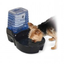 """K&H Pet Products CleanFlow Dog Ceramic Fountain with Reservoir 170 oz. Small Black 11.5"""" x 9"""" x 10.5"""" KH2582"""
