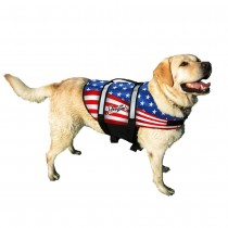 Pawz Pet Products Nylon Dog Life Jacket Flag