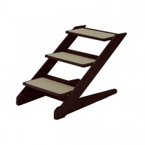 "Richell 3-Step Pet Stool V1 Brown 15"" x 26.4"" x 18.3"" - R94807"