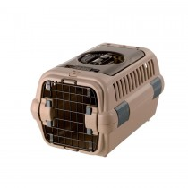 Richell Double Door Pet Carrier Tan