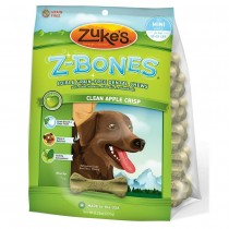 Zuke's Z-Bones Grain Free Edible Dental Chews Clean Apple Crisp 18 count Small - Z-82415