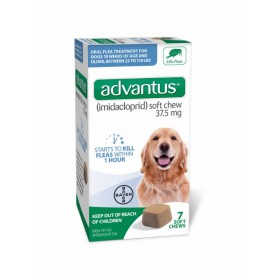 Advantus 37.5mg Soft Chews Oral Flea for Dogs (23 - 110 lbs, 7 Count)