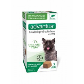 Advantus 7.5mg Soft Chews Oral Flea for Dogs (4 - 22 lbs, 7 Count)
